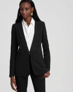 Theory New Medora Black Long Sleeve Hook and Eye Front Wool Blazer 10
