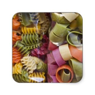 Multi colored pasta, Torri del Benaco, Verona Sticker