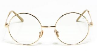 Brand New Vintage Old Fashion Style Eyeglasses Medium Round Gold Frame