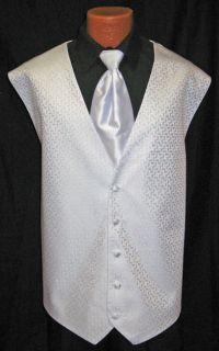After Six Sky Blue Melrose Fullback Vest Tie Wedding