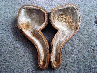 Vintage Novelty Skull Meerschaum Pipe w Case