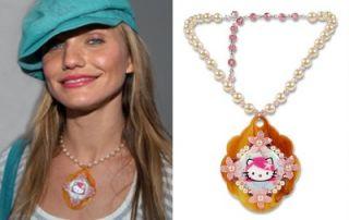 Tarina Tarantino Pink Head Cherry Blossom Necklace