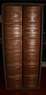 McKenney & Hall INDIAN TRIBES OF NORTH AMERICA 2 Volume Set LEATHER