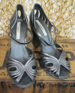 Melissa Womens Sexy Gray Strappy Peep Toe Rubber Jellys Heels Shoes