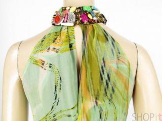 NWT Meghan Fabulous Bead Halter Long Silk Dress Gown 4 Madonna Dress $