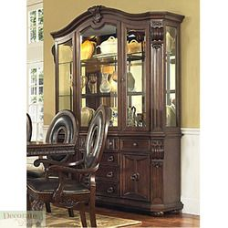 Hutch China Cabinet Melrose Solid Cherry Wood Glass Doors Shelves 72w
