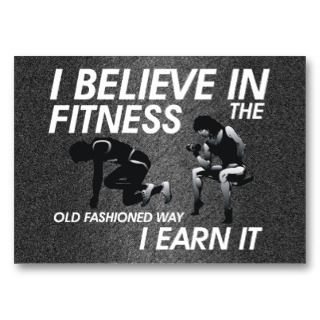 TOP Believe in Fitness Business Card Template