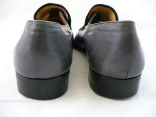 Bruno Magli Mens MENO Gray Dress Loafers Woven Label Size 11M #34190