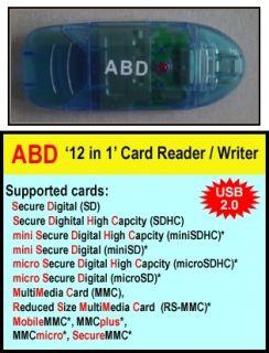 Flash Memory Card Reader Writer 4GB MicroSD Card Full Sized SD Adapter
