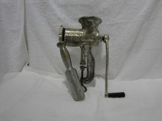 Chop Rite No 10 Large Tinned Antique Manual Meat Grinder