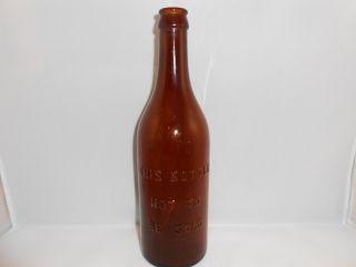 Menominee River Brewing Brown Amber Glass Beer Bottle MI Pre