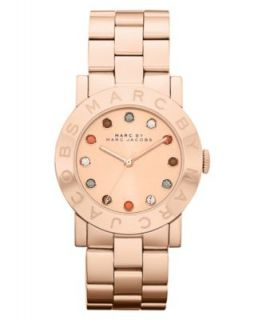 Marc by Marc Jacobs Watch, Womens Amy Rose Gold Ion Plated Stainless