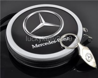 Mercedes Benz Keychain Ring Portable 24 CD DVD Storage Box Holder Free