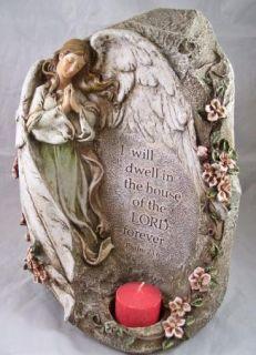 Sympathy Angel Votive Candle Holder Memorial Statue