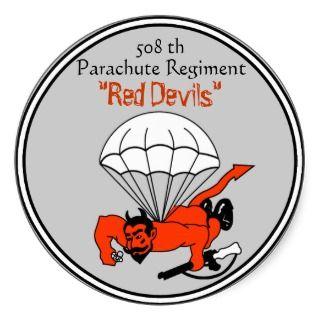 508th Red Devils Paracute Regiment, 82nd Airborn Sticker