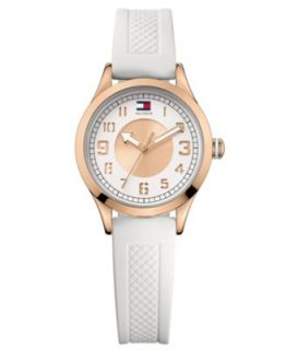 Tommy Hilfiger Watch, Womens White Silicone Strap 1781121   All