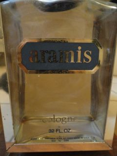Vintage 1970s Mens Aramis Cologne Display Stand Swing Bottle 32 FL