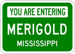 Merigold Mississippi You Are Entering Aluminum City Sign