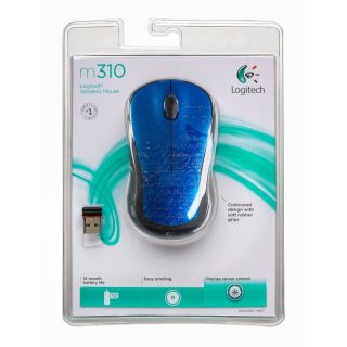 New Logitech M310 USB RF Wireless Laser Mouse Indigo Scroll 910 002482