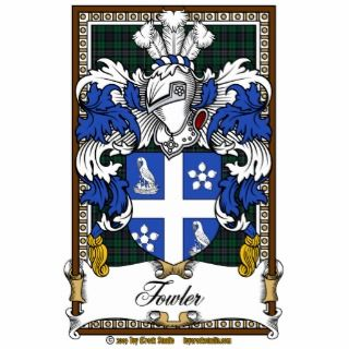Fowler Family Crest Acrylic Cut Outs