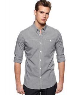 Calvin Klein Shirt, Solid Stretch Long Sleeve Shirt   Mens Casual