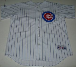 Majestic Chicago Cubs Stitched MLB Baseball Jersey Mens Large