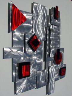 Abstract Modern Metal Wall Art Sculpture Contemporary