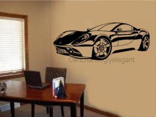Corvette Sports Car Race Car Vinyl Decal Wall Sticker Garage Office