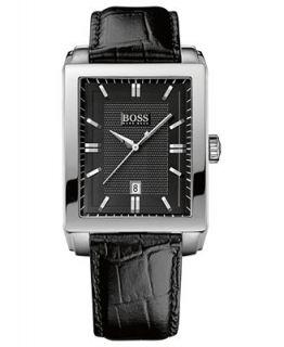 Hugo Boss Watch, Mens Black Leather Strap 35mm HB1018 1512771