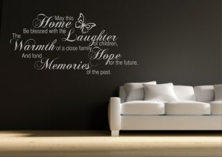 Family Home Memories Wall Sticker Quote Decal Transfer Mural Stencil