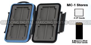 Extremely tough Memory Card Case MC 1 for 4 CF cards 8 MS Pro DUO