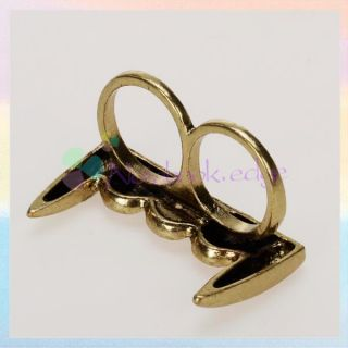 Punk Gothic Halloween Vampire Teeth Double Two Finger Ring New