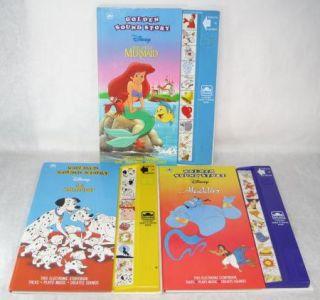 Golden Sound Story Books Dalmatians Aladdin Mermaid