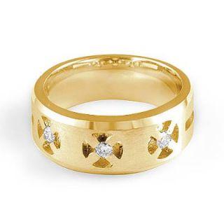 3ct Mens 3 Stone F Round Diamond Wedding Band Rings 14k Gold Yellow