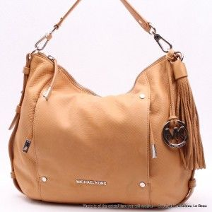 Michael Kors Bowen Large Shoulder Bag  $348 Tan NWD