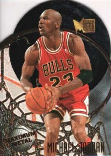MICHAEL JORDAN 1995/96 95/96 FLEER METAL MAXIMUM METAL DIE CUT #4