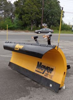 Used 8 Meyer Lot Pro Professional Commercial Snow Plow with Lights