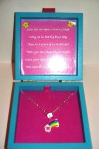New Necklace Keepsake Box Fairy Tale Nursery Rhyme Girl Over The