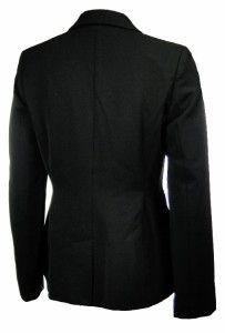 Sutton Studio Womens Black 4P Multi Pocket Blazer Petite Wool Blend