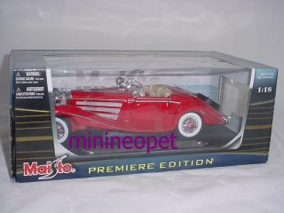 1936 Mercedes Benz 500 K Typ Specialroadster 1 18 Red