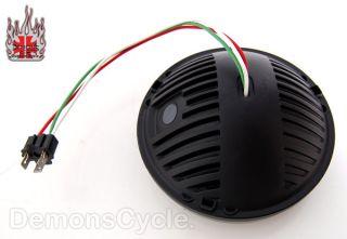 Phase 7 LED Headlight w Halo Chrome Trim by Kuryakyn for Harley FLST