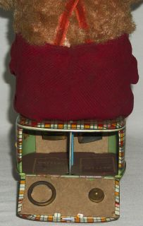 Vintage Balloon Blowing Monkey Tin Toy Battery Operated Litho Japan