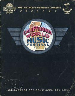 Van Halen 1979 Tour Concert Program Aerosmith Toto April Wine REO