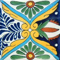60 Mexican 4x 4 Ceramic Tile Set Vintage Azulejo Mix