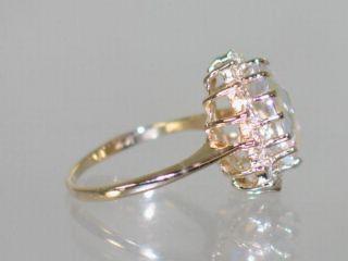 R283 Mercury Mist Topaz Gold Ring