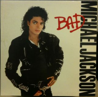 Michael Jackson Bad LP Vinyl OE 40600 VG 1987 1A 1c