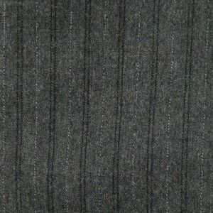 Womens Wool Blend Striped One Button Blazer Jacket Coat Dark Gray