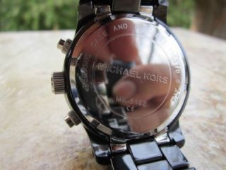 Michael Kors Womens Black Dial with Black Ceramic Bracelet Watch