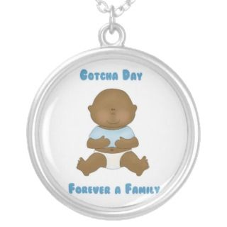 Gotcha Day Adoption Necklace (blue)