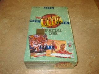 1992 93 Fleer Ultra Factory SEALED Hobby Box Series 1 Basketball